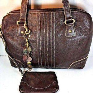 Franklin Covey Women's Brown Leather Laptop Tote